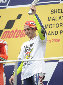 Podium: third place and 2009 MotoGP champion Valentino Rossi, Fiat Yamaha Team
