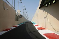 The pit lane of New Abu Dhabi Yas Marina Circuit