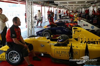 F2 cars in the garage