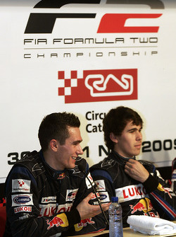 Mikhail Aleshin and Robert Wickens in the press conference