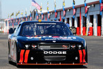 Justin Allgaier takes the No. 12 Dodge Challenger out of the garage