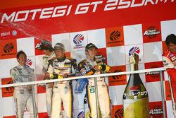 GT300 Championship podium: champions #19 Wedssport IS350: Manabu Orido, Tatsuya Kataoka