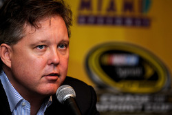 NASCAR Chairman and CEO Brian France answers questions from the media
