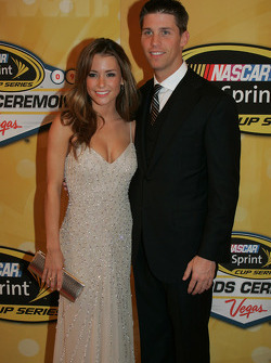 Denny Hamlin with his companion