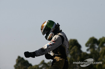 James Courtney celebrates his victory