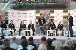 Orlen Team presentation: Marek Dabrowski, Jakub Przygonski, Krzysztof Holowczyc and Jacek Czachor on stage