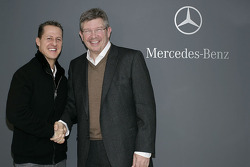 Michael Schumacher reunited with Ross Brawn