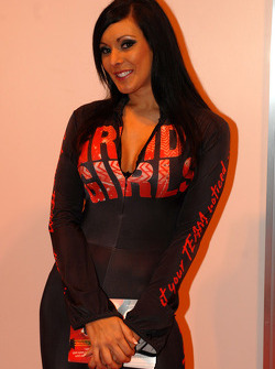Promo girl at the Autosport Show