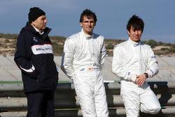 Peter Sauber, BMW Sauber F1 Team, Team Principal, Pedro de la Rosa, BMW Sauber F1 Team, Kamui Kobayashi, BMW Sauber F1 Team