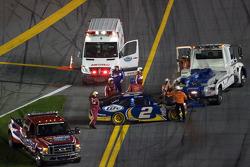 Kurt Busch, Penske Racing Dodge after his crash