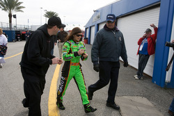 Danica Patrick chased by fans