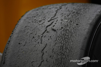 tyre wear on the Bridgestone tyres