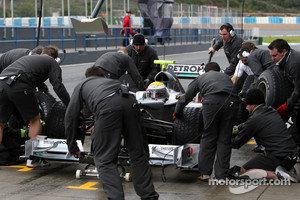 Nico Rosberg, Mercedes GP Petronas, practice pitstops