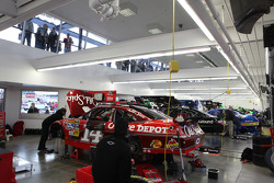 Stewart-Haas Racing Chevrolet garage area