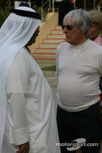 Bernie Ecclestone and Crown Prince Salman bin Hamad Al-Khalifa
