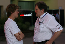 Sebastian Vettel, Red Bull Racing talks with Norbert Haug, Mercedes, Motorsport chief