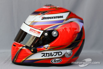 Helmet of Kamui Kobayashi, BMW Sauber F1 Team