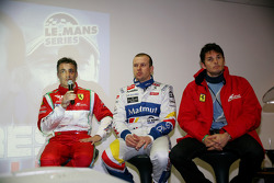 LMS press conference: Jean Alesi, Olivier Panis and Giancarlo Fisichella
