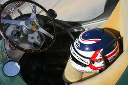 Nigel Mansell, 1992 F1 World Champion drives the 1950 Ferrari 125 GPC