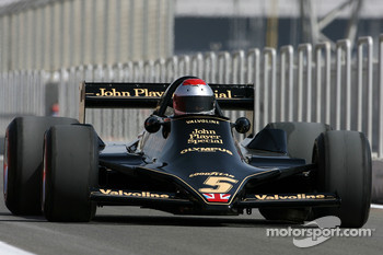 Mario Andretti, 1978 F1 World Champion drives the 1978 Lotus 79