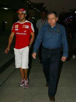 Felipe Massa, Scuderia Ferrari and Jean Todt, FIA president