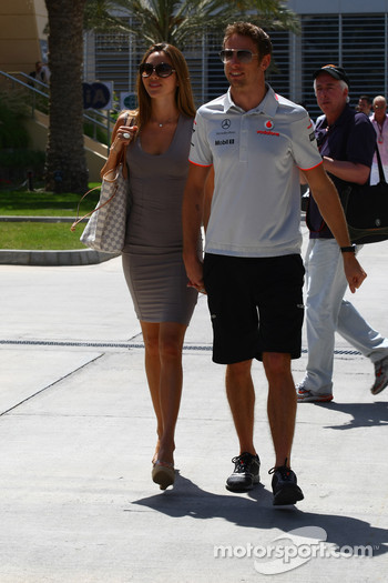 Jenson Button, McLaren Mercedes with Jessica Michibata girlfriend of Jenson Button
