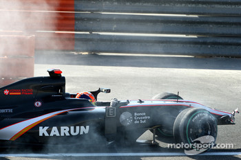 Karun Chandhok, Hispania Racing F1 Team crashes