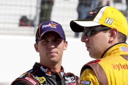 Kyle Busch, Joe Gibbs Racing Toyota and Denny Hamlin, Joe Gibbs Racing Toyota