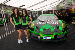 Lovely Patron girls pose with the Extreme Speed Motorsports Ferrari F430 GT