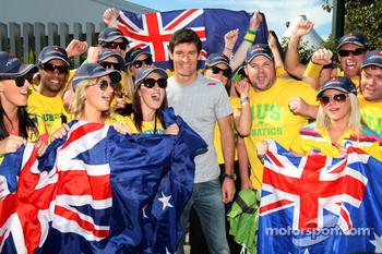 Mark Webber and his Australian fans