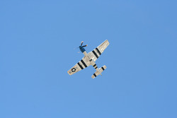 P51 Mustang overflies the track