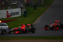 Timo Glock, Virgin Racing was close to the safety car