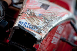 Jules Bianchi damaged front nose cone