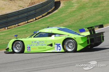 #75 Krohn Racing Ford Lola: Nic Jonsson, Tracy Krohn spins