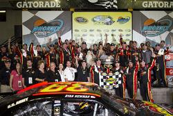 Victory lane: race winner Ryan Newman, Stewart-Haas Racing Chevrolet celebrates