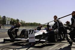 Pit stop for Alex Tagliani, FAZZT Race Team