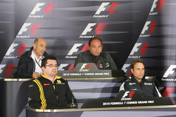 Peter Sauber, BMW Sauber F1 Team, Team Principal with Eric Boullier, Team Principal, Renault F1 Team Colin Kolles, Hispania Racing Team, Team Principal HRT and Adam Parr