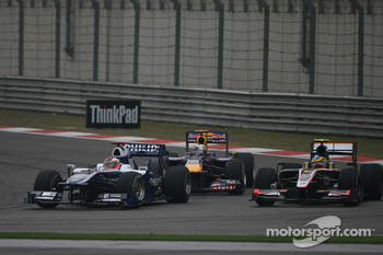 Rubens Barrichello, Williams F1 Team and Bruno Senna, Hispania Racing F1 Team
