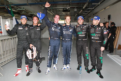 Qualifying race winners Marc Hennerici and Andreas Zuber, with second place Thomas Mutsch and Romain Grosjean, and third place Michael Bartels, Andrea Bertolini