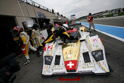Pit stop for #12 Rebellion Racing Lola B10/60 Coupé - Rebellion: Nicolas Prost, Neel Jani