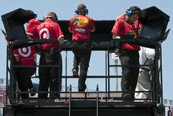 Earnhardt Ganassi Racing Chevrolet team members watch practice