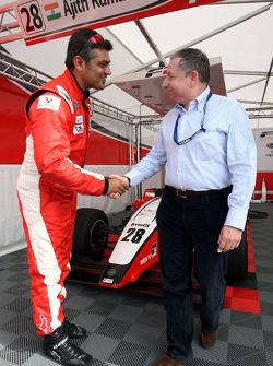 Ajith Kumar meets Jean Todt FIA President