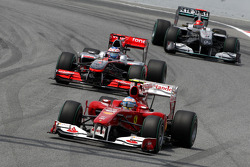 Fernando Alonso, Scuderia Ferrari, Jenson Button, McLaren Mercedes, Michael Schumacher, Mercedes GP Petronas