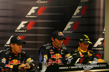 Sebastian Vettel, Red Bull Racing with Mark Webber, Red Bull Racing and Robert Kubica, Renault F1 Team