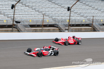Ryan Hunter-Reay, Andretti Autosport and Dario Franchitti, Target Chip Ganassi Racing