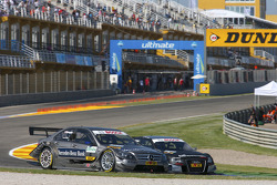 Bruno Spengler, Team HWA AMG Mercedes C-Klasse and Timo Scheider, Audi Sport Team Abt Audi A4 DTM