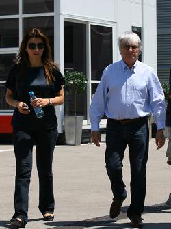 Fabiana Flosi Brazilian Grand Prix Vice-President of Marketing and girlfriend of Bernie Ecclestone