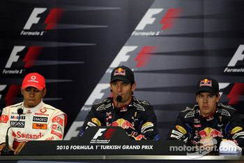 Lewis Hamilton, McLaren Mercedes, Mark Webber, Red Bull Racing, Sebastian Vettel, Red Bull Racing
