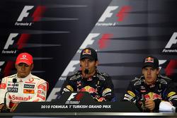 Lewis Hamilton, McLaren Mercedes, Mark Webber, Red Bull Racing, Sebastian Vettel, Red Bull Racing