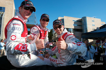 Romain Dumas, Mike Rockenfeller and Timo Bernhard